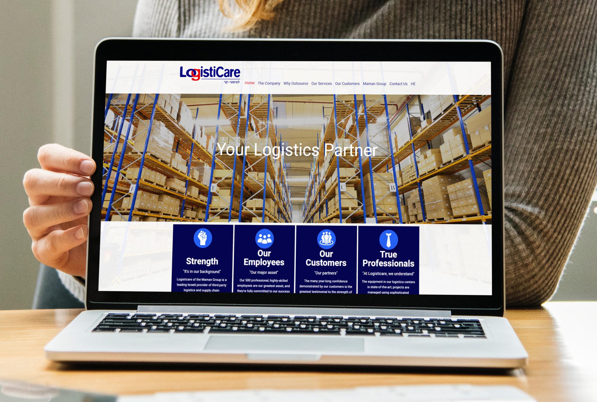 בניית אתר: Logisticare