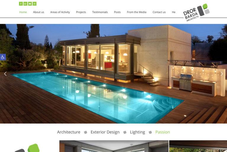 מאמר בניית אתר תדמית לעסק: דרור ברדה אדריכלים