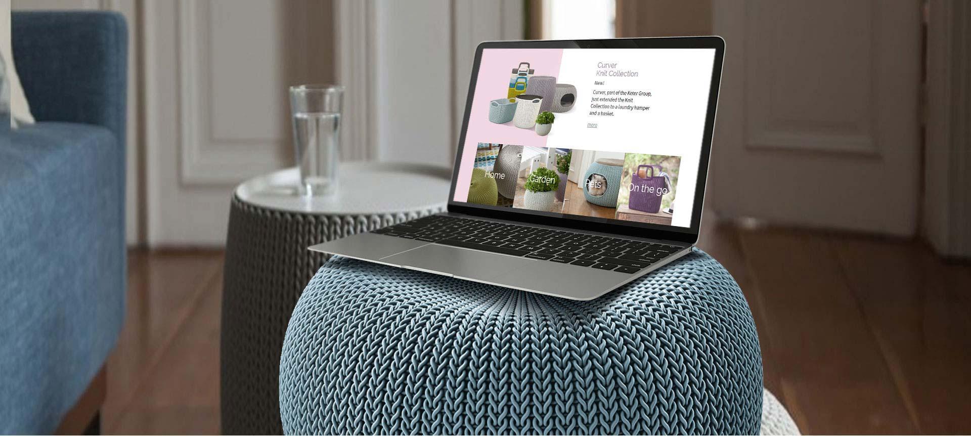 פרויקט Web Design Website: Knit