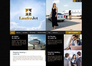 Web3D   בניית אתר אינטרנט   עיצוב אתר LauferJet