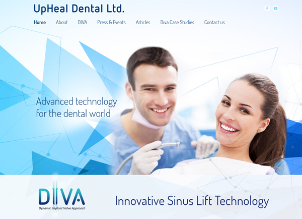 Web3D | עיצוב אתרים | בניית אתר: Upheal Dental