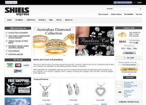 Web3D   אתרי אינטרנט   אתרי מסחר אלקטרוני לדוגמה: תכשיטי Shiels