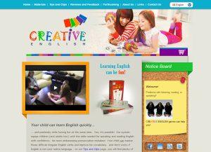 Web3D | בניית אתרים תדמיתיים | אתר לדוגמה: לימודי אנגלית Creative English