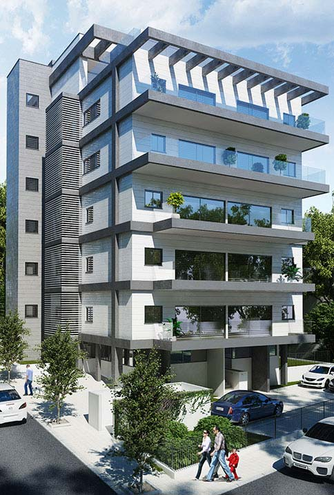 Web3D - תלת מימד - בניין מגורים