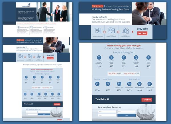 web3d, פיתוח מיניסייט, אתר עמוד אחד, consultinguru