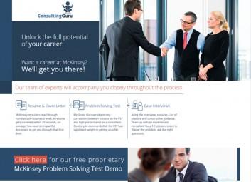 Minisite – Consulting Guru פרויקט