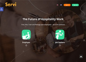Site construction: Servi – management of personnel in the hospitality industry פרויקט