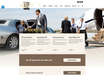Website: Laufer – pre-flight services at the airport פרויקט