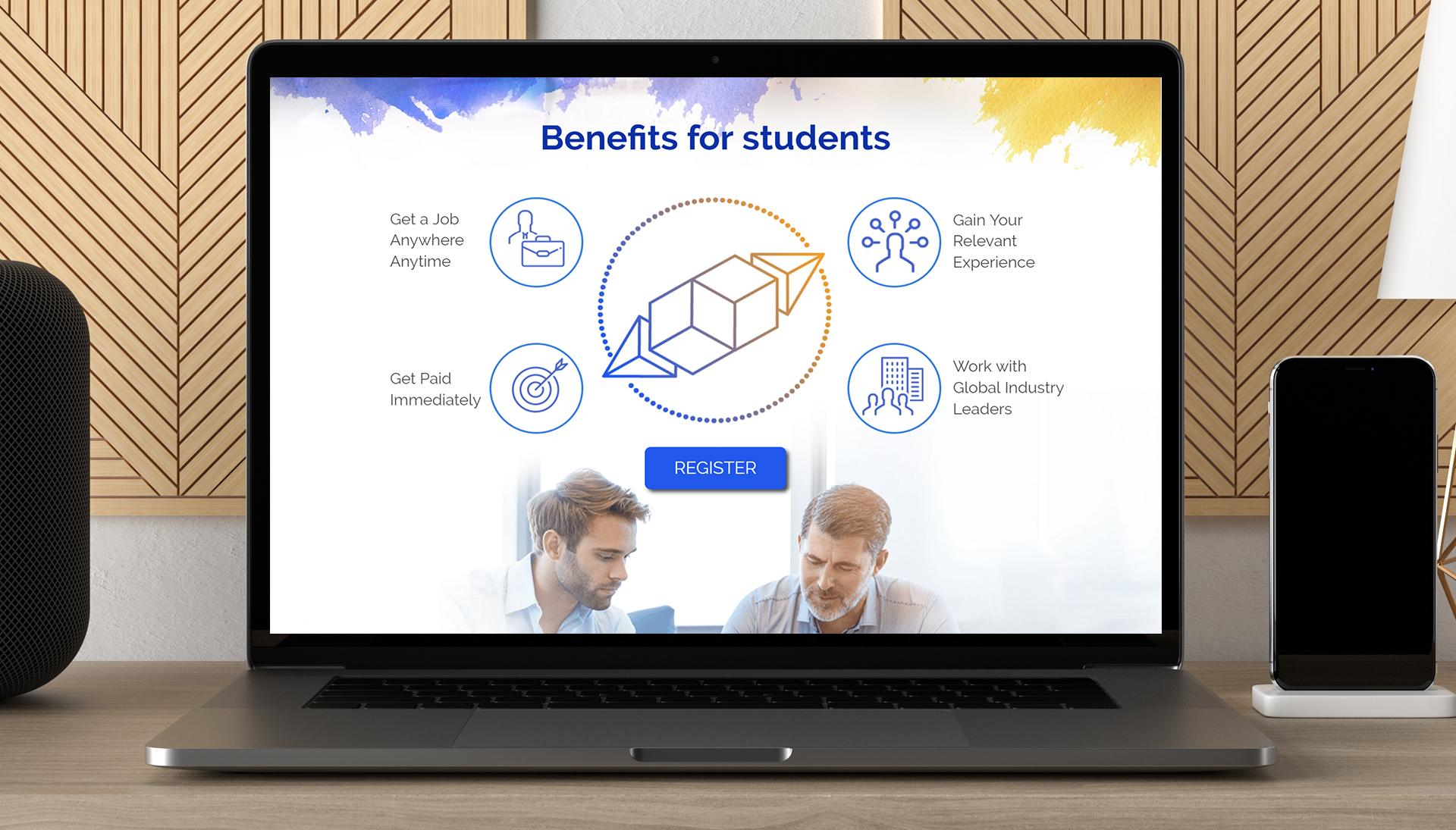 פרויקט Website creation: bitjob