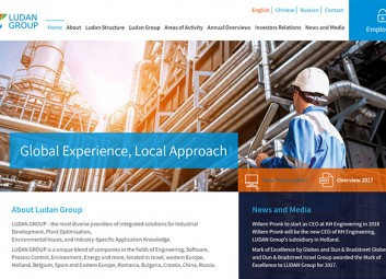 Site build: Ludan Group פרויקט