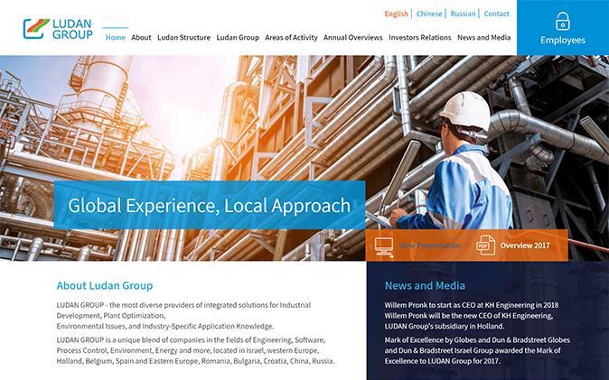 מוקאפ עמוד הבית, בניית אתר Ludan Group